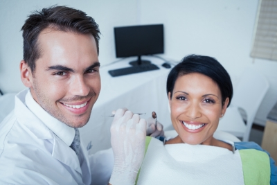 lady smiling at dentist